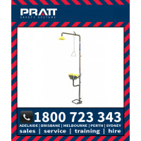 Pratt Combination Shower with AEROSTREAM Eye/Face Wash Hand & Foot Operated (SE607)