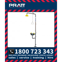 Pratt Combination Shower with AEROSTREAM Eye Wash Hand Operated (SE616)