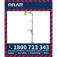 Pratt Safety Shower with AEROSTREAM Eye/Wash Hand Operated NO BOWL (SE675)