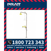 Pratt Combination Shower with AEROSTREAM Eye/Face Wash Hand Operated NO BOWL (SE685)