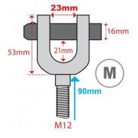 Hydrajaws M12 Ringbolt Adaptor Clevis (Model 2000) M  23mm  (PS2000MRB23)