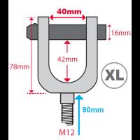 Hydrajaws M12 Ringbolt Adaptor Clevis (Model 2000) XL  40mm  (PS2000XLRB40)