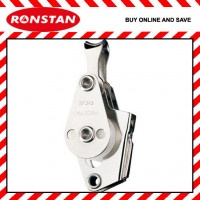Ronstan RF343 25mm Triple Utility Block Pulley with Becket, V-Jam Cleat and Loop Head