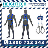 Scaffolders Safety Harness Kit with 2m Twin Retractable Lanyard with 50mm Scaffold Hook