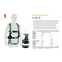XL/2XL Miller AirCore Tower Harness with Aluminium hardware and side D-rings.
