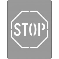 600x450mm - Poly Stencil - Stop (Picto) (ST1208)