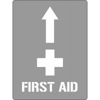 600x450mm - Poly Stencil - First Aid With Arrow (ST1209)
