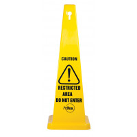 890mm Safety Cone - Caution Restricted Area Do Not Enter (STC12)