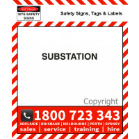 SUBSTATION 25mm / 50mm H Black Vinyl Text