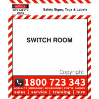 SWITCH ROOM 25mm / 50mm H Black Vinyl Text