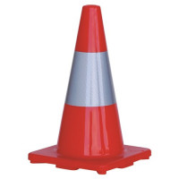 ProChoice Orange Traffic Cone with Reflective Strip 450mm (TC450R)