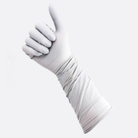 TGC (Box of 40) Grey 400mm Long Cuffs Nitrile Disposable Gloves M