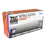 (Box of 100) The Glove Company X-LARGE TGC Orange Hi-Vis Nitrile Gloves (160034)