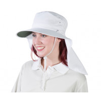 Uveto S-M WHITE Tammin Broad Brim Sun Hat