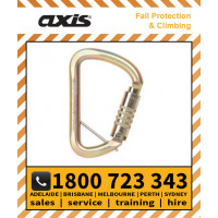 Axis Steel 53kN WIDE D TRIPLOCK With Removeable Captive-Eye Pin (S501TW/PINGLD)