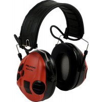 3M Red/Black Folding Headband Format Headset Level Dependent, Standard Headset Class 4 SLC80 24dB (XH001650056)