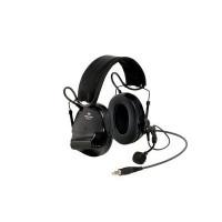 3M Green Folding Headband Format Headset Level Dependent, J11 NATO Connection & Boom Mic Class 5 SLC80 27dB (XH001680913)