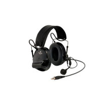 3M Green Folding Helmet Attached Format Headset Level Dependent, J11 NATO Connection & Boom Mic (XH001681044)