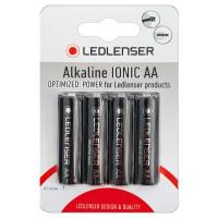 Ledlenser 4 x Ledlenser AA Alkaline Ionic