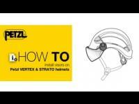 HowTo install visors on Petzl VERTEX & STRATO helmets