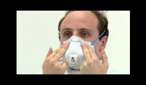 Fitting 3M™ 8300 Series Disposable Respirators