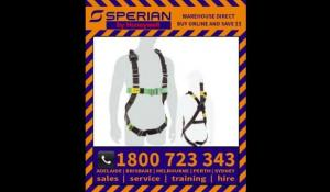 Honeywell Sperian SS Duraclean Harness with Alum QR buckles on legs