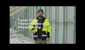 Bisley Taped Hi Vis Fleece Hoodie with Sherpa Lining BK6819T