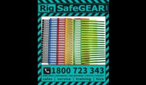 Rigtag Inspection 175mm safety tags for rigging safety equipment Raktag